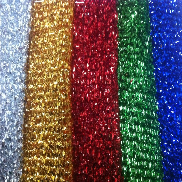 fec19cd04f2 SPARKLE TINSEL Lurex Fabric Material / Metallic Glitter 4 way stretch 140cm  wide