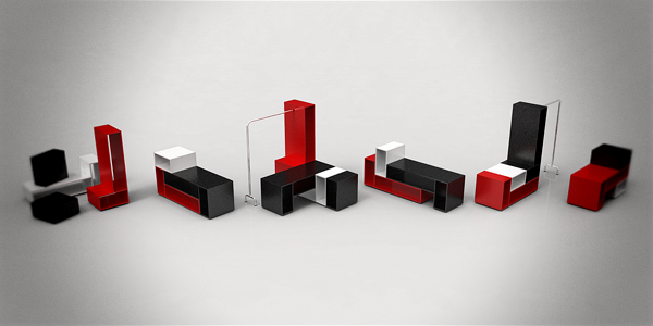 Artistic Stijl Modular Display Furniture Decor