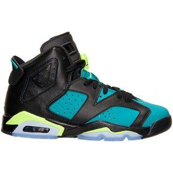fa88a0676a66 543390-043 Air Jordan 6 Retro Black Volt Ice-Turbo Green-Black (Woman GS  Girls) 2014