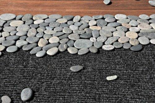 Natural Looking Diy Rock Doormat Door Mat Diy Diy River Rock Easy Diy
