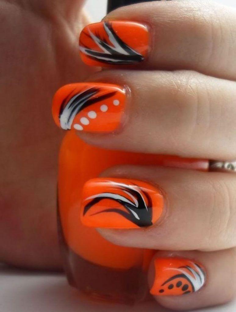 Orange Nails Designs
