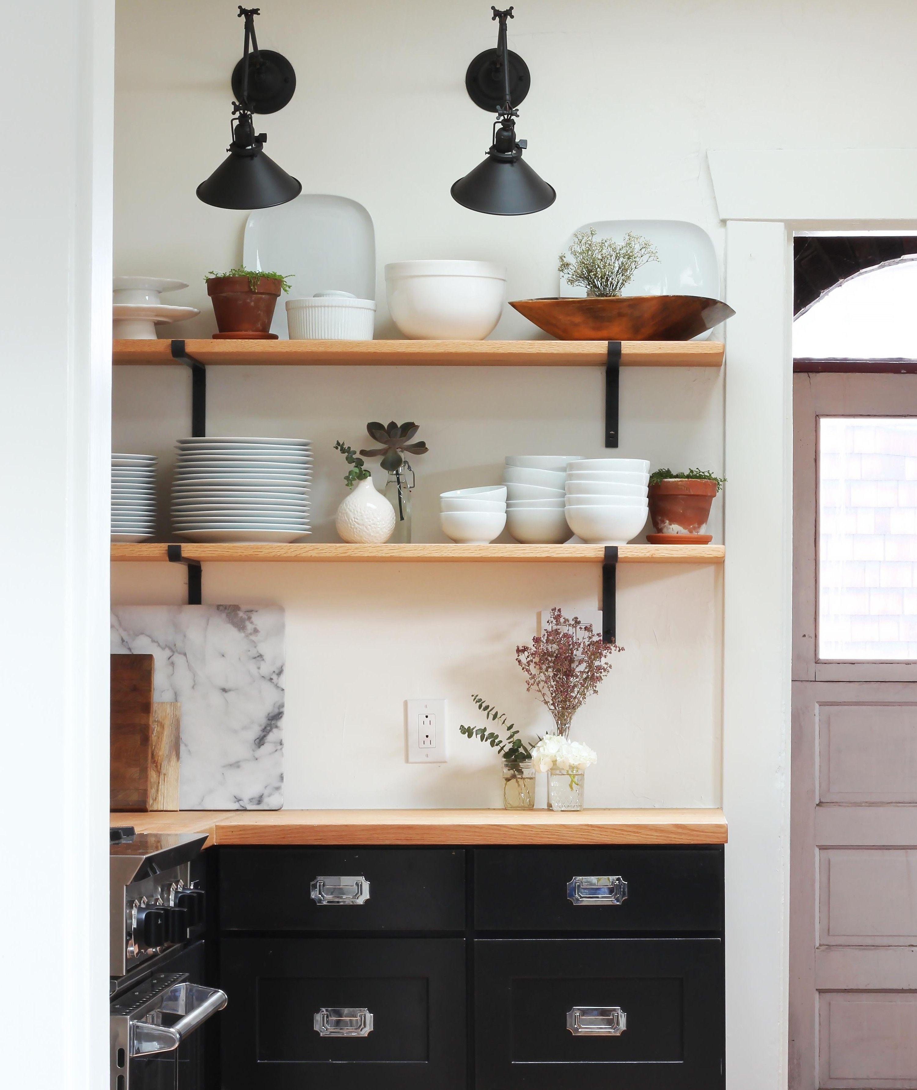 Dexter Kitchen Backsplash Tile The Grit And Polish Renovaiton Open Shelves