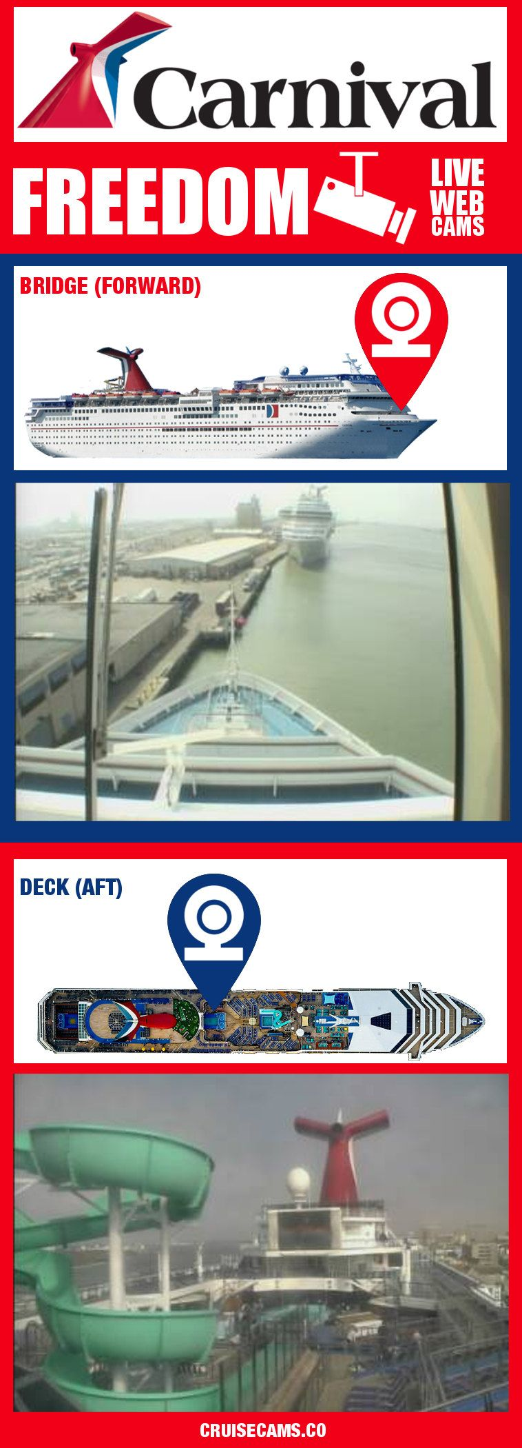 Carnival Freedom Cruise Cam Live Ship Webcam Click For Latest - Live cruise ship web cameras