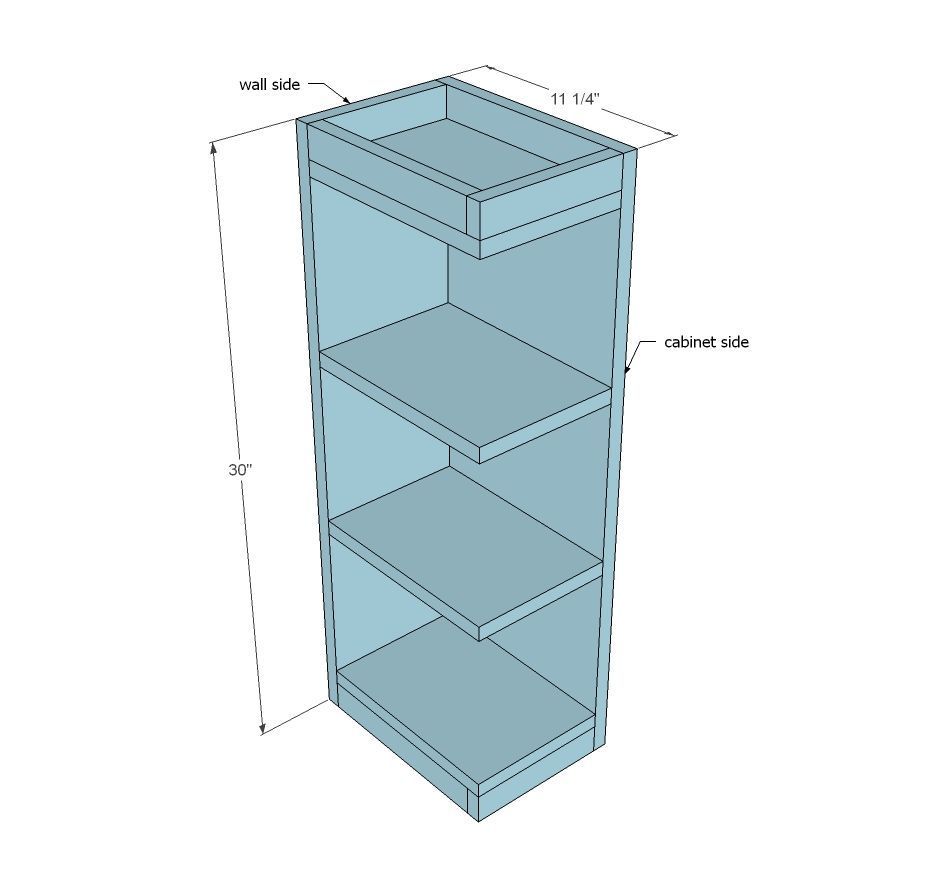 Open Shelf End Wall Cabinet Ana White Kitchencabinetopenendshelf Kitchen Cabinet Plans Wall Cabinet Cabinet