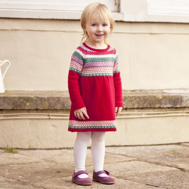 Girls Cashmere Mix Fair Isle Dresses, Girls Dresses, Girl Clothes ...