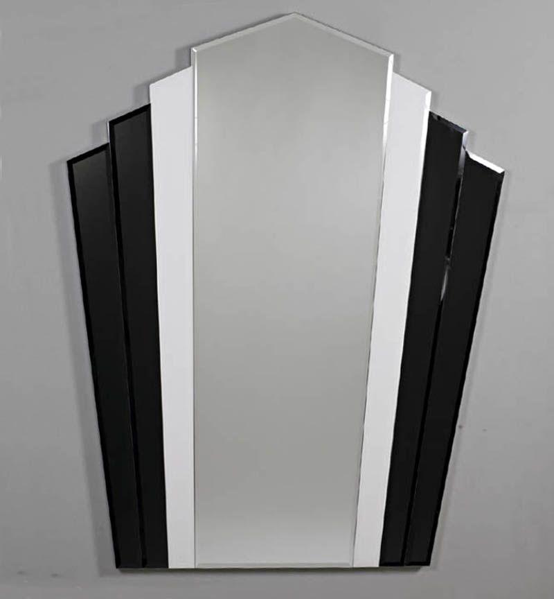 Black White Mirror Art Deco