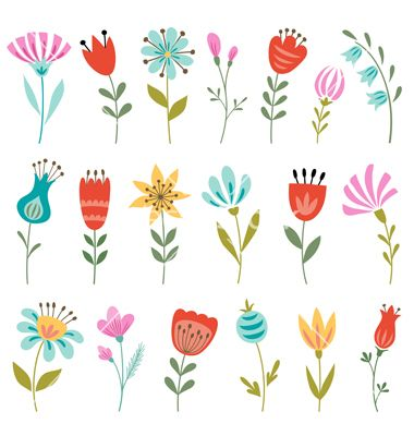 Spring Flowers Vector By Fireflamenco On Vectorstock Floral