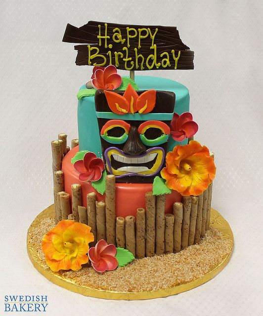 Super Tiki Party With Images Luau Party Cakes Luau Birthday Cakes Funny Birthday Cards Online Elaedamsfinfo