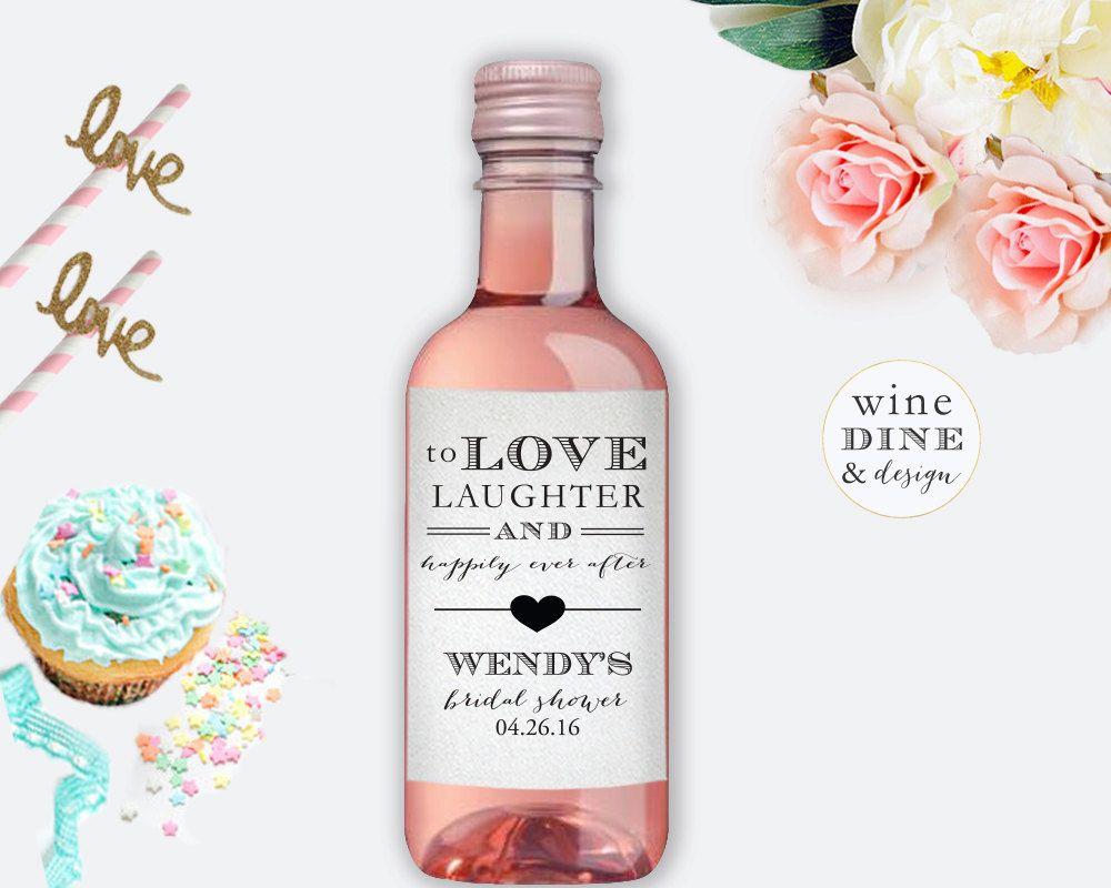Mini Wine Bottle Labels Bridal Shower Favor by shopwdd on Etsy ...
