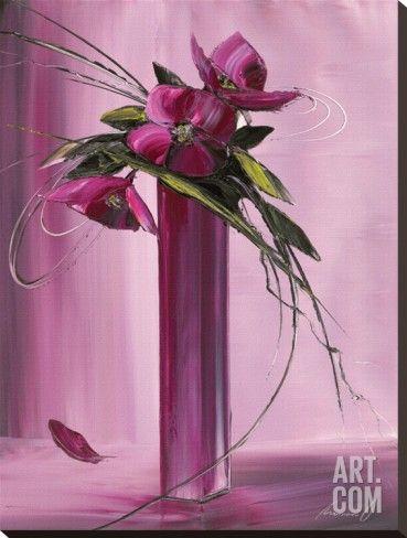 Art Fr Tableau Sur Toile Bouquet Violet I Par Olivier Tramoni