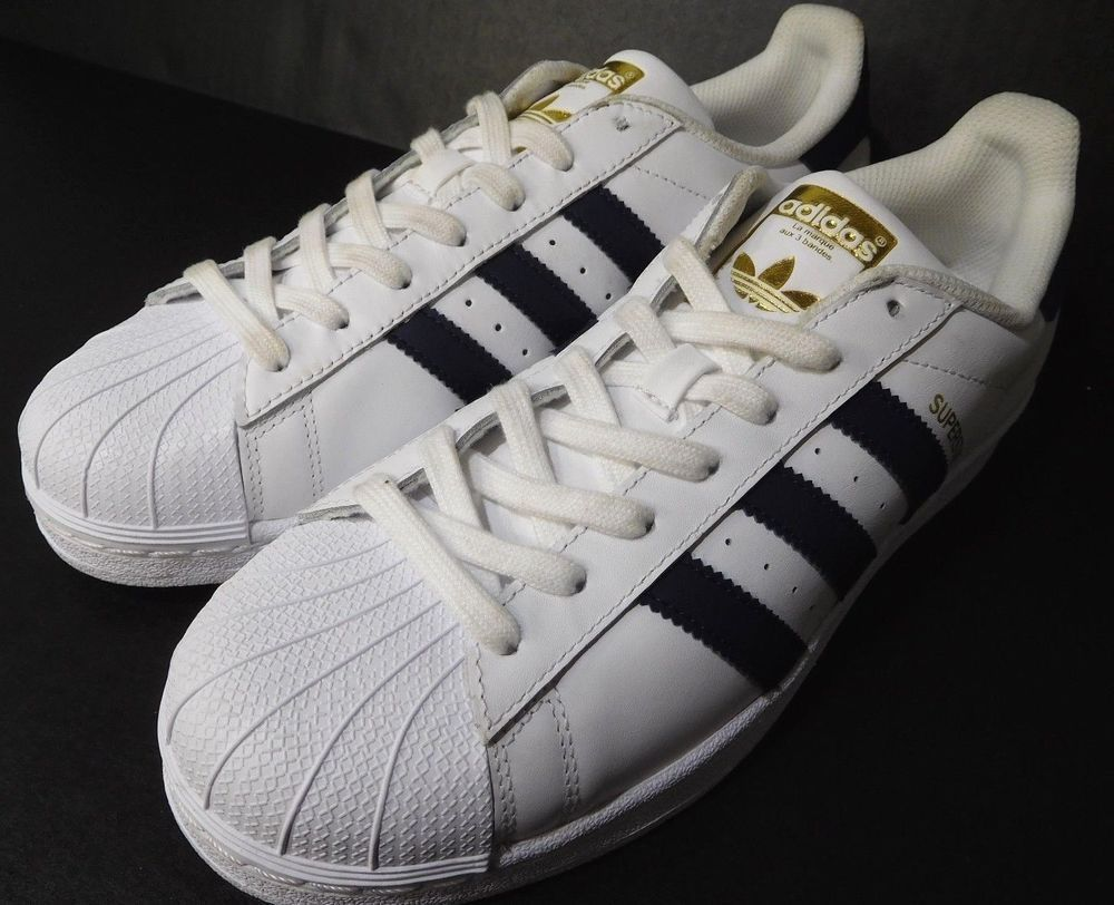 2d9bd6a9b2d Adidas Mens Original Superstar LA Marque AUX 3 Bandes Shoes White US 9.5  BY3712  Adidas  EveryDayCasual