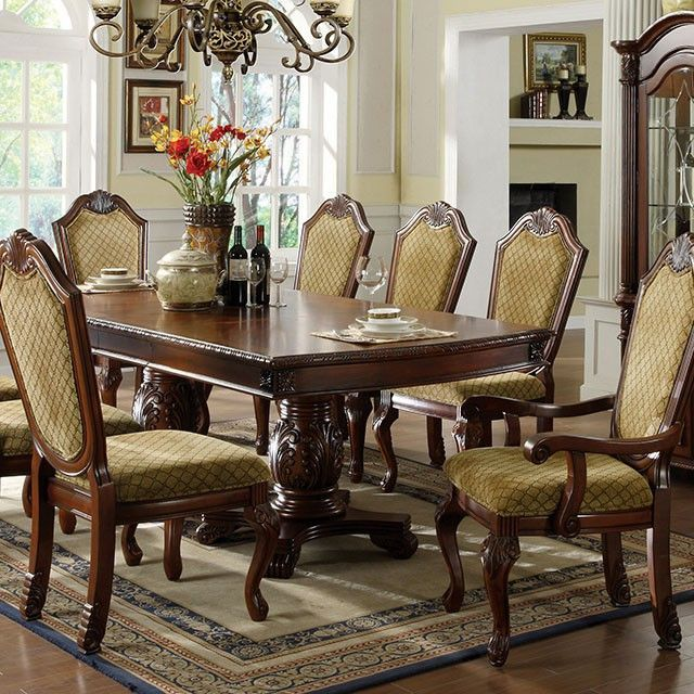 Napa Valley 3005T Traditional Dark Cherry Dining Table Set Wchina Stunning Traditional Dining Room Sets Cherry Decorating Inspiration
