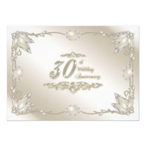 30th wedding anniversary invitation lori annv party pinterest