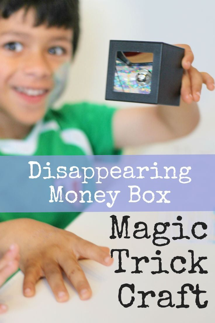 Disappearing money box magic trick science craft - makes a great DIY spy toy from @intheplayroom #Pintorials