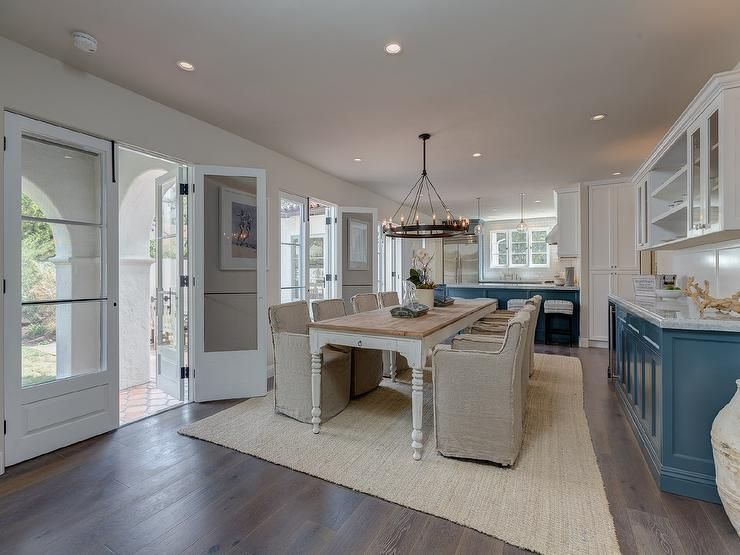 Two Toned Kitchen Blue And White Cabinets Sotheby S Homes