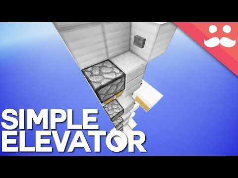 The Simplest Multifloor Piston Elevator in Minecraft 1 9 - YouTube