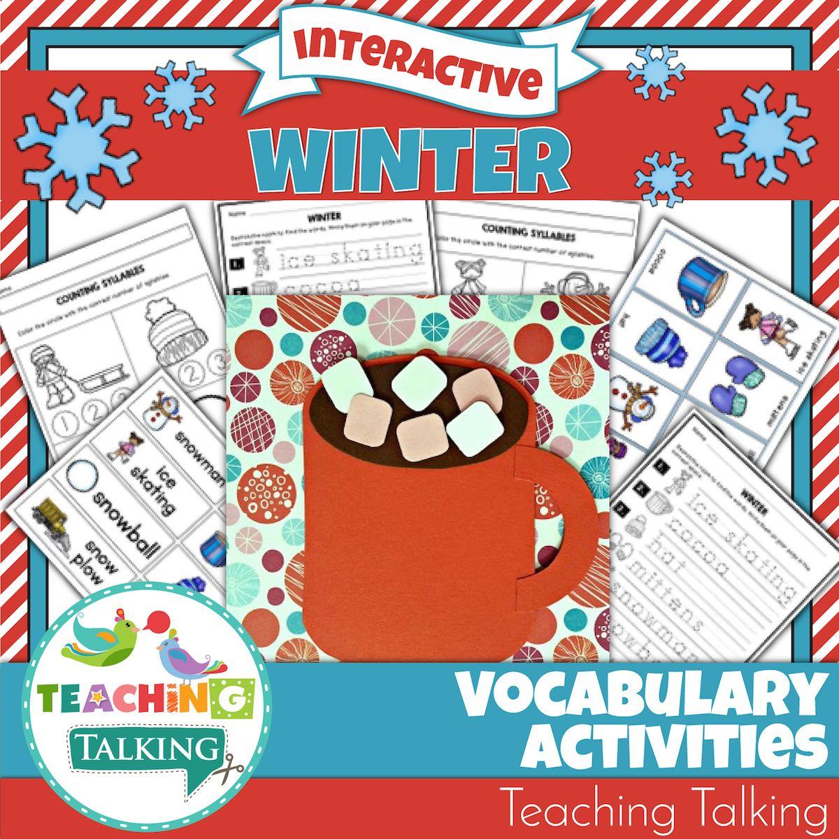 Winter Vocabulary Activities For Speech And Language