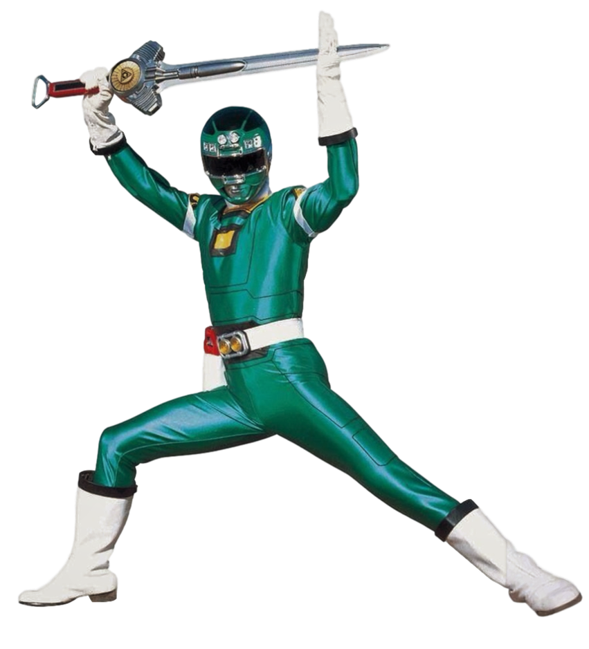 Turbo Green Ranger Transparent! by CamoFlauge Green