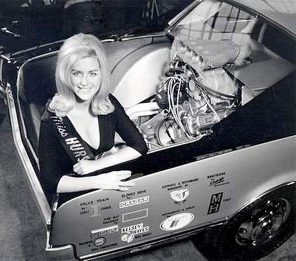 Pin on Linda vaughn -Miss Hurst Golden Shifter