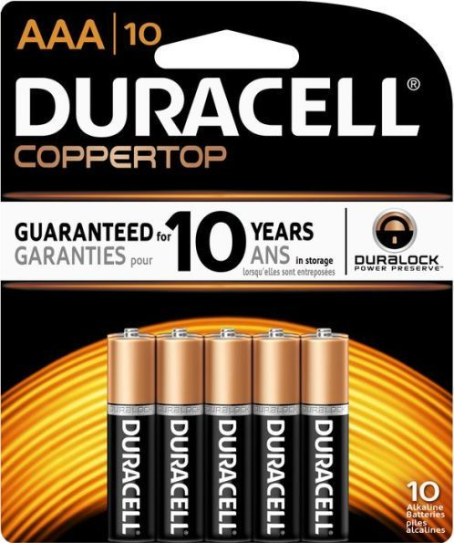 Duracell Aaa 10pk Alkaline Batteries Duracell Alkaline Battery Duracell Batteries