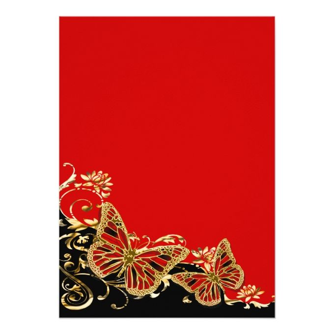 Red black gold wedding reception 5x7 paper invitation card - best of invitation cards for wedding price