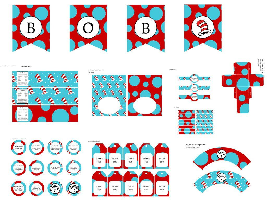 Image result for thing 1 and thing 2 baby shower invitations ...