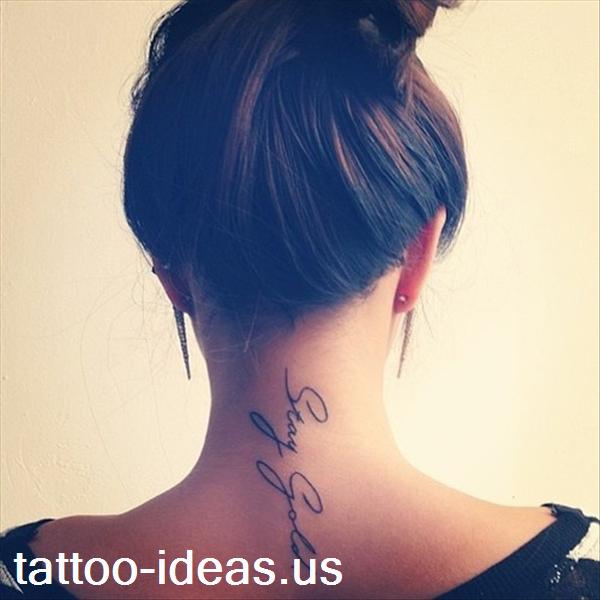 Schriftzug Nacken Tattoo Tattoo Pinterest Tattoo