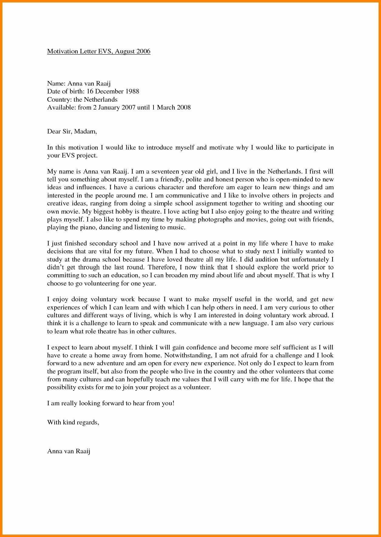 Example Of Motivation Letter Template Motivation Letter Motivation Letter For Job Motivational Letter Job Cover Letter