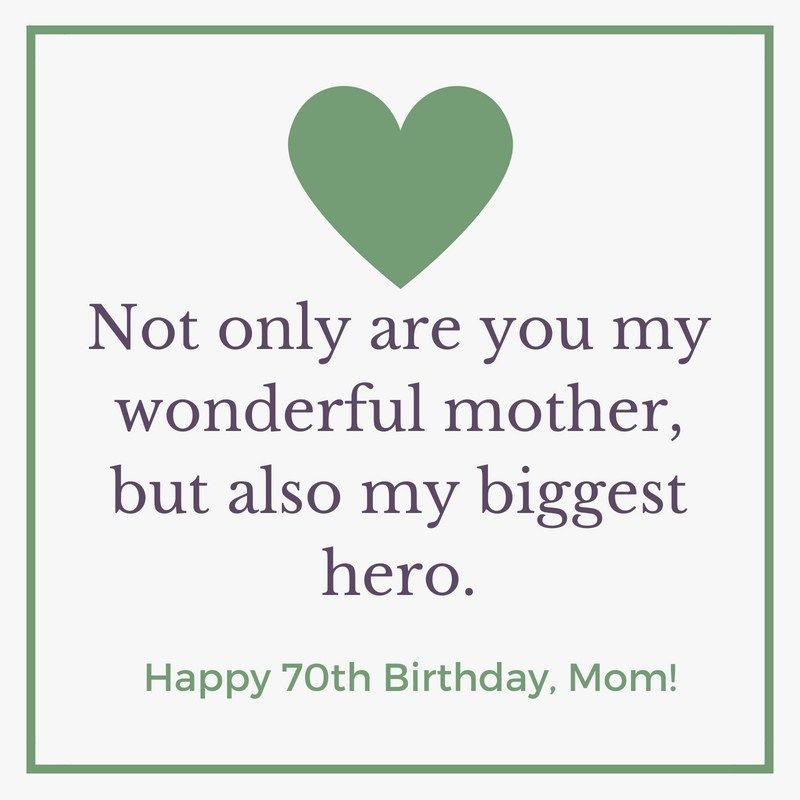 70th Birthday Wishes For Mom