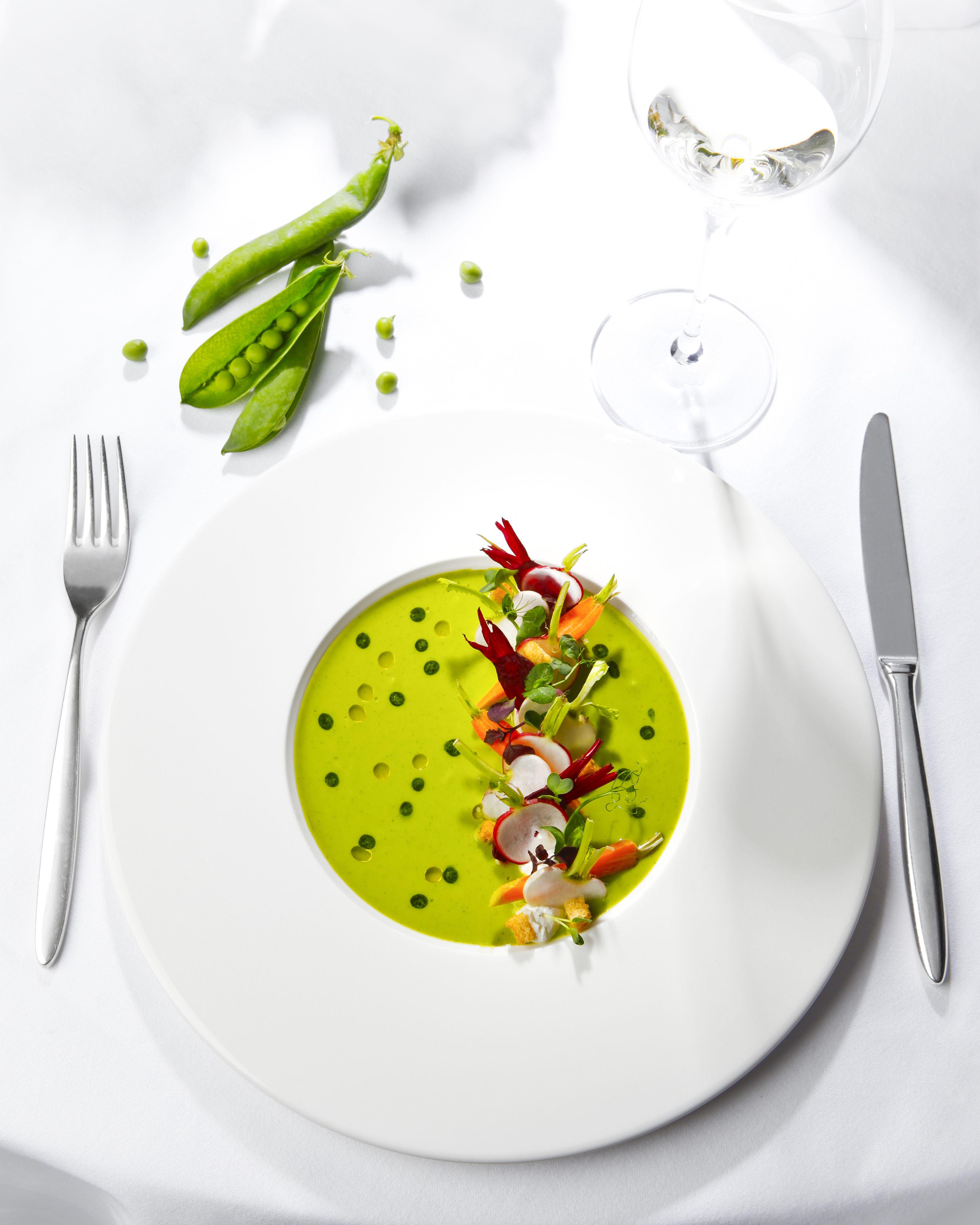 Mint Peas Soup Food Plating Food Presentation Pub Food