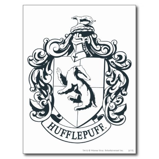 Hufflepuff Crest Postcard Zazzle Com Harry Potter Drawings