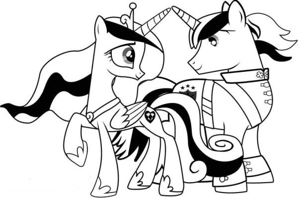 Princess Cadance And Shinning Armor My Little Pony Coloring Pages ...
