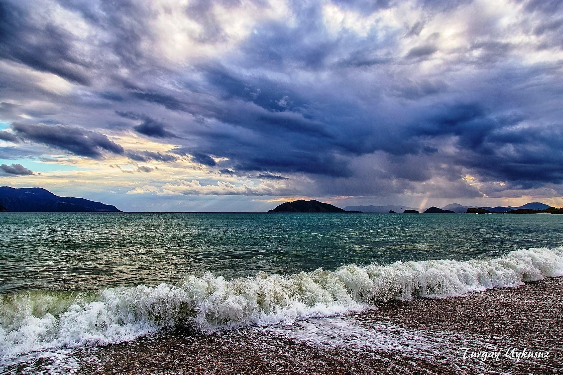 October evening in #Calis Beach, #Fethiye, #Turkey