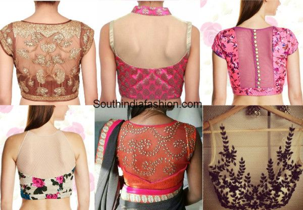 e07cedf83b154b Here are a few sheer blouse back neck designs you should try out just  because they're that pretty! Back neck designs...trendy blouse designs..net  blouses