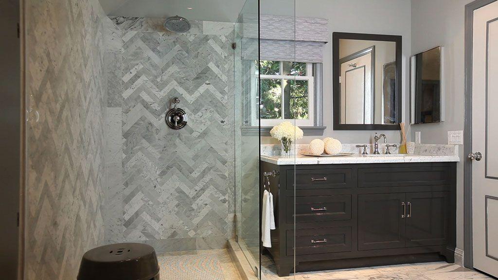 Everydaywithja Herringbone Tile Bathroom Jeff Lewis Design Bathroom Tile Designs