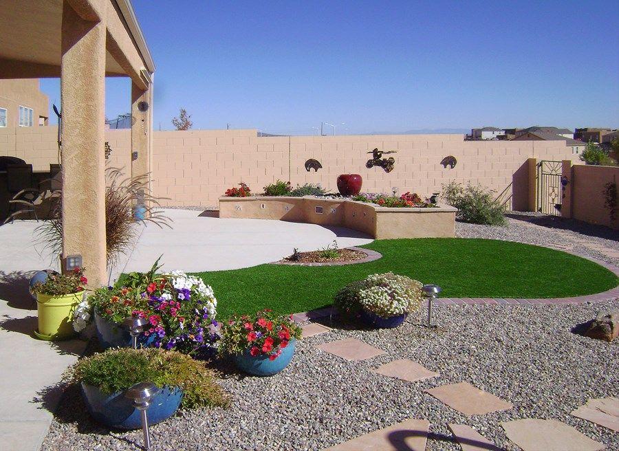 Low Maintenance Backyards Desert Backyard Low Water Landscaping