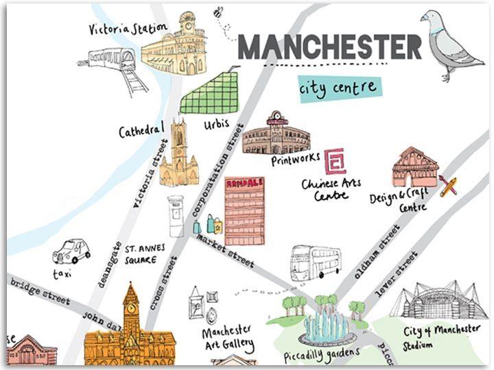 b259a4d4 Firecatcher Creative: Manchester Map | Manchester | Manchester map ...