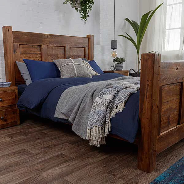 Beam Henley Reclaimed Wood Bed In 2020 Reclaimed Wood Beds Rustic Bedroom Furniture Rustic Wooden Bed