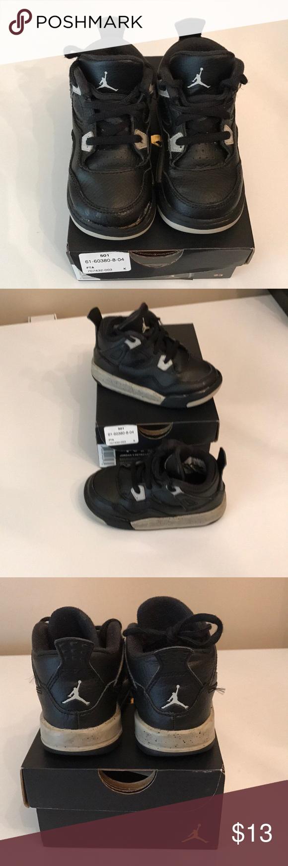 new arrival 71d99 f37b8 Air Jordan 4 Retro LS BT Size 7c Air Jordan 4 Retro LS Boy s Toddler Shoes