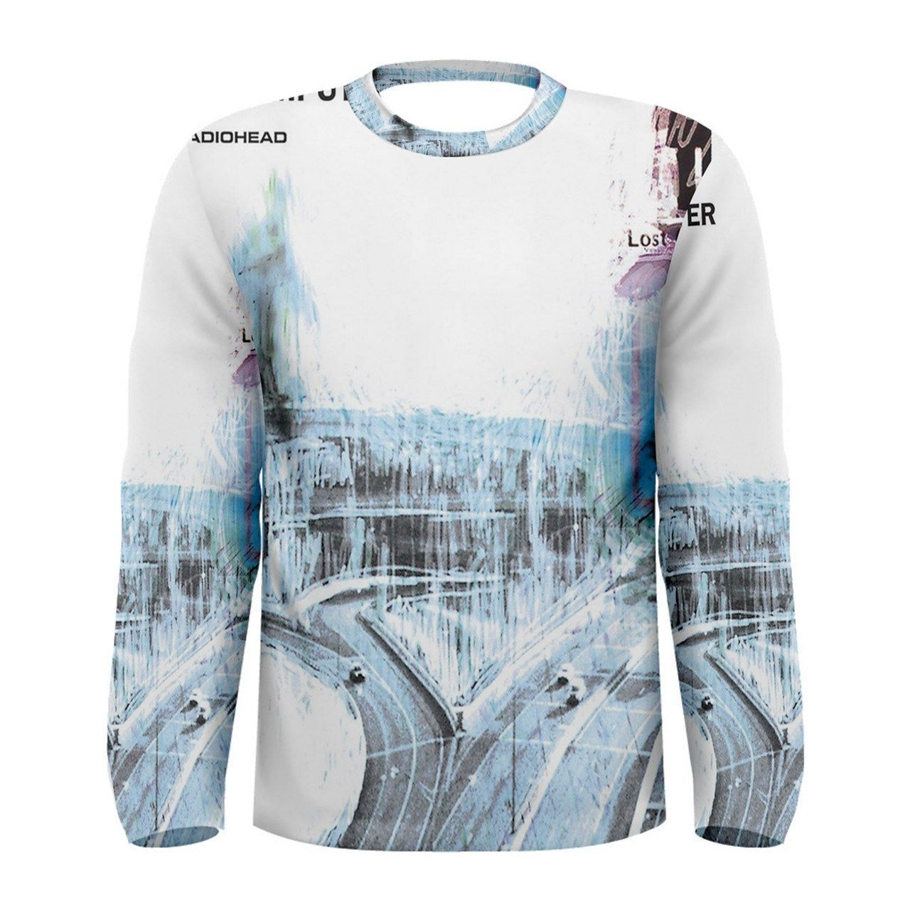 a8bf44625e7f 28.99 | New RADIOHEAD OK COMPUTER Rock Band Sublimation Men's Long Sleeve T- Shirt