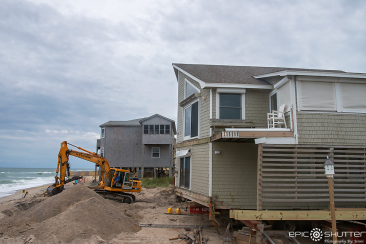 Update On Rodanthe Houses That Were Almost Washed To Sea Outer Banks Documentary Photographer Rodanthe House Rodanthe House Movers