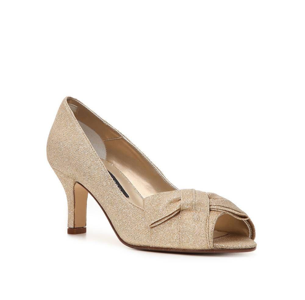 Shoes Gold Wide Width Low Heel Mid Heel