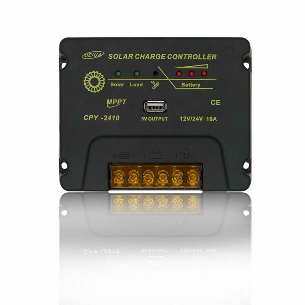 Ueiua Solar Charge Controller 12v 24v 10a Mptt Solar Panel Battery Regulator Ebay In 2020 Solar Panel Battery Solar Solar Panels
