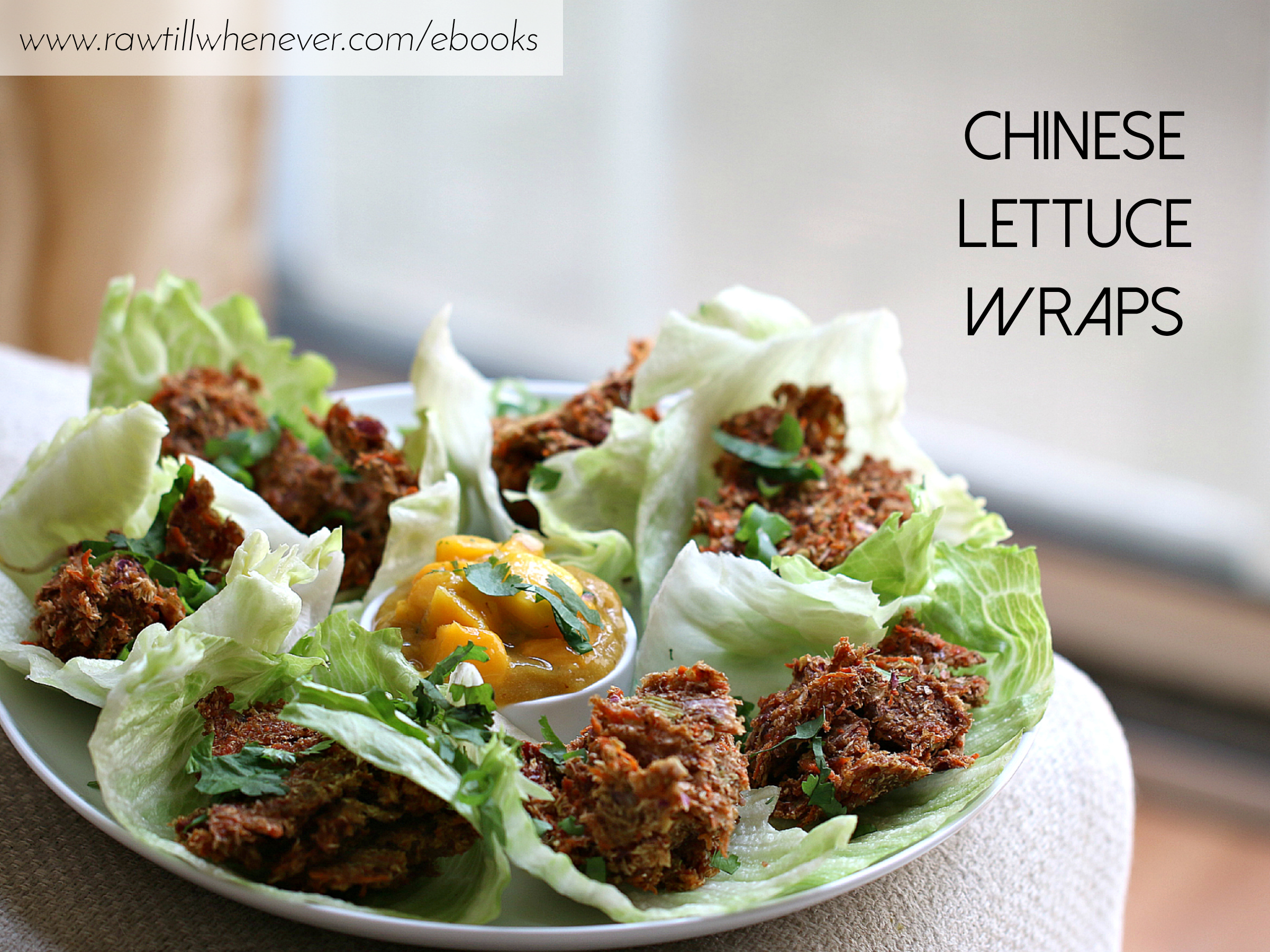 Chinese lettuce wraps recipe featured from my raw vegan recipe book chinese lettuce wraps recipe featured from my raw vegan recipe book ilikeitraw forumfinder Gallery