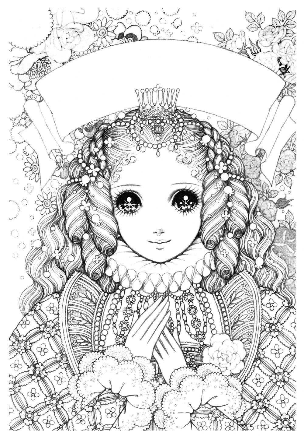 高橋真琴のお姫様ぬりえ ミツキmaウスの小さな世界 塗り絵