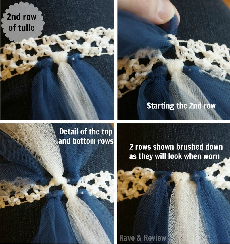Attaching The Second Row Of Tulle Ideas Pinterest
