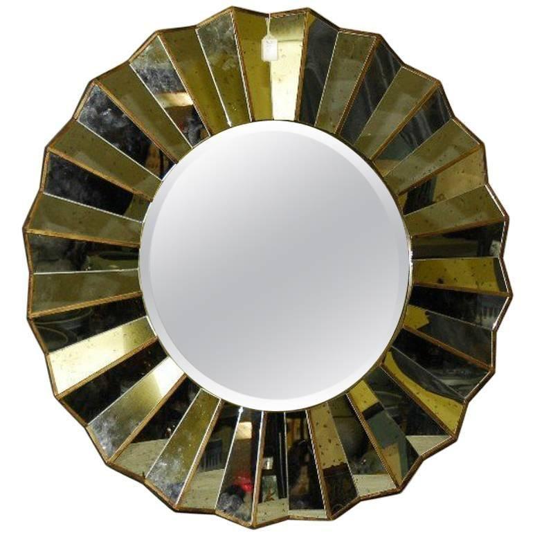 Mid-Century Modern Sunburst Mirror | 1stdibs.com ...