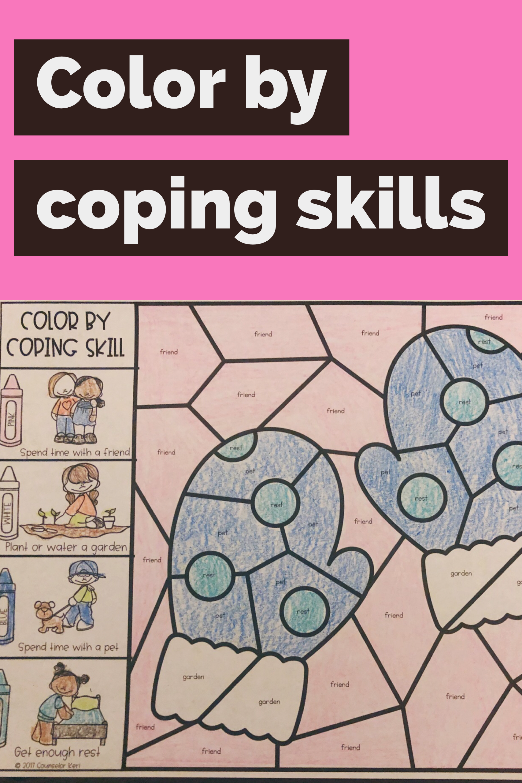 Color By Coping Skills Winter Activity For Elementary