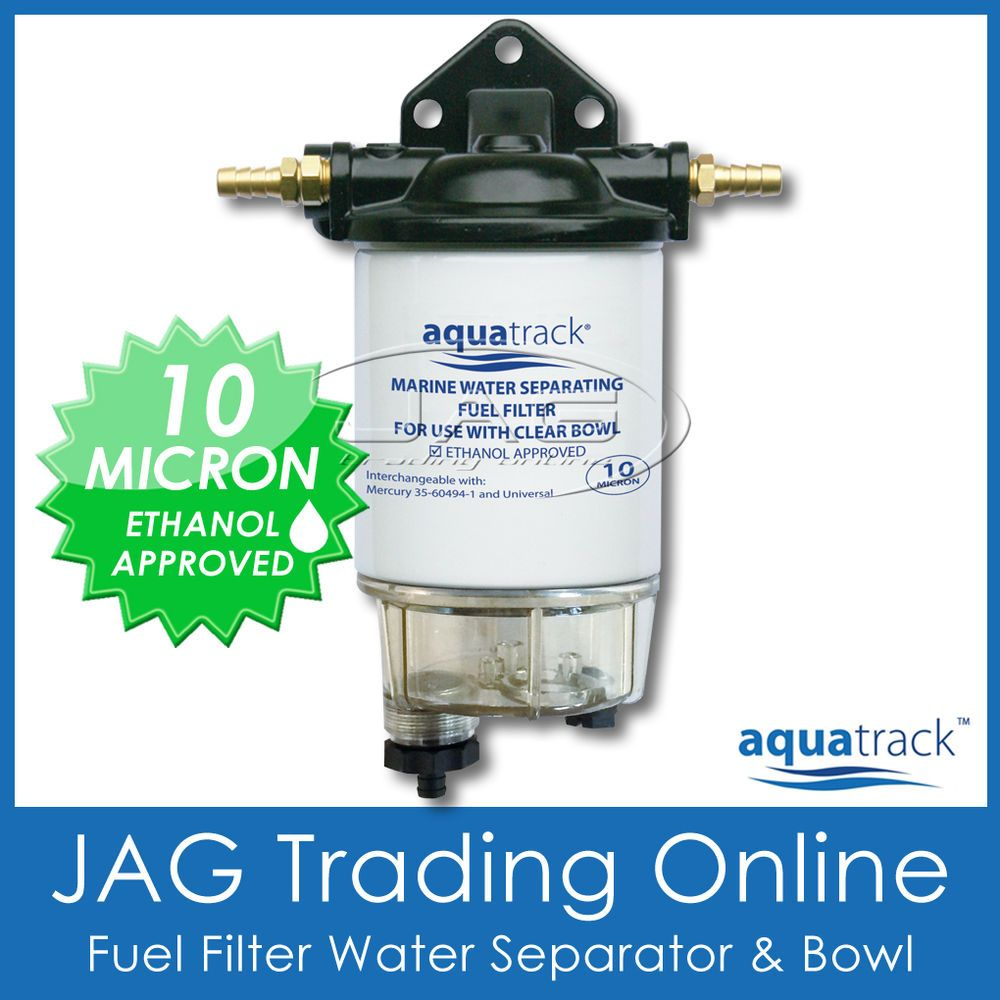 medium resolution of clear bowl fuel filter water separator kit drain boat marine outboard inboard