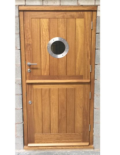 Iroko Stable Door Porthole Vision